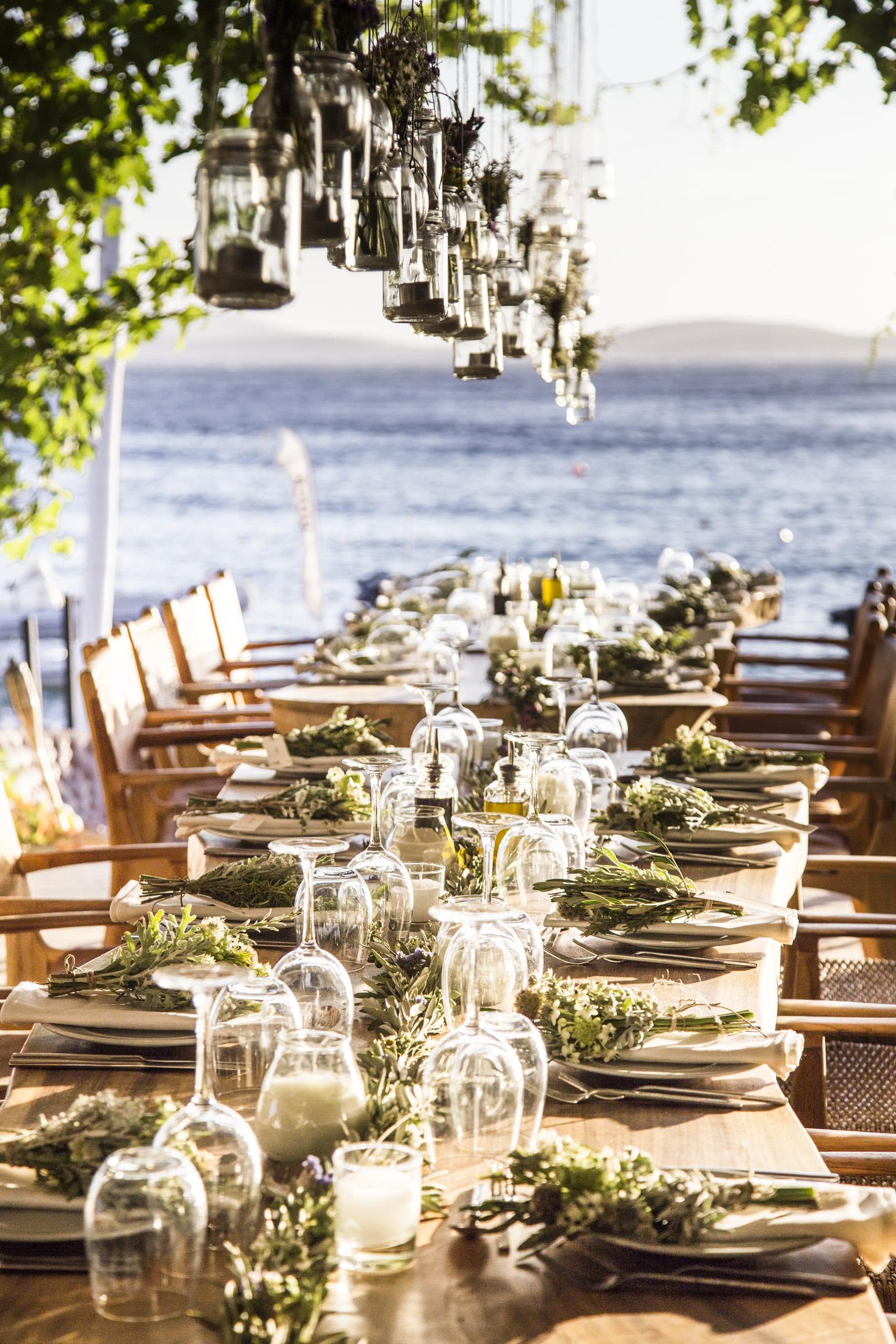 Wedding Decoration at Mykonos Island Greece