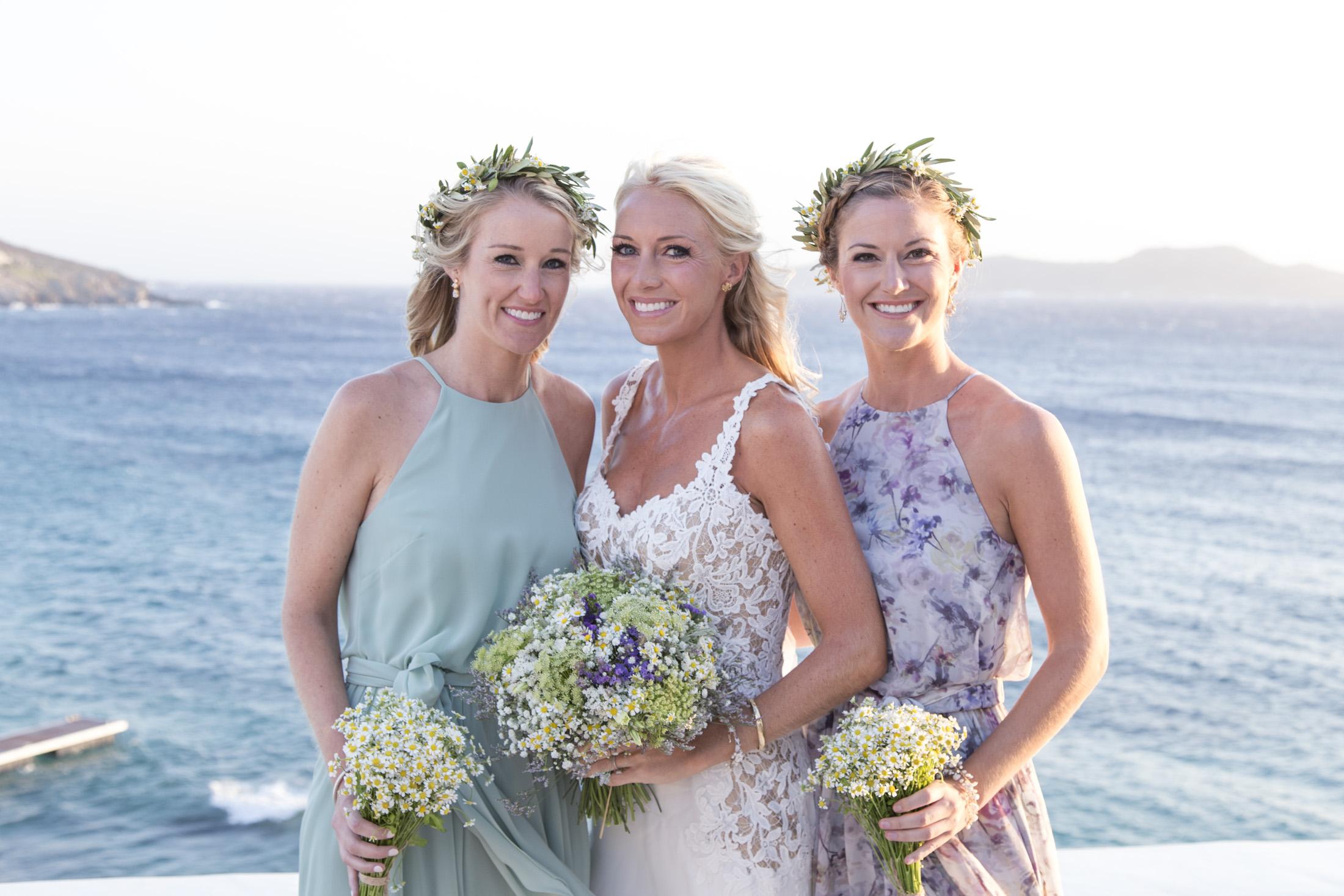 Bridesmaids Wedding in Mykonos island